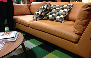 Custom Leather Sofa by Calia Maddalena