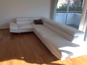 Leather corner sofa Concorde