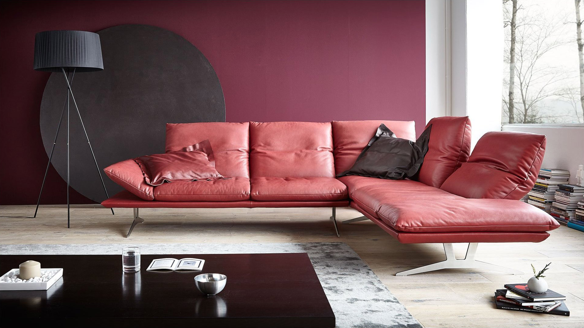 Italian Leather Sofa Apache by Calia Maddalena