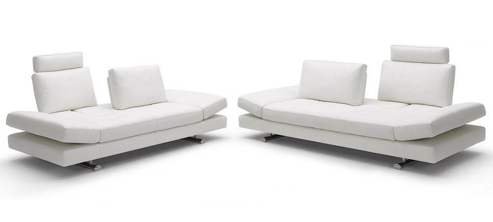 Leather Sofas 3 Seater Slalom White Version